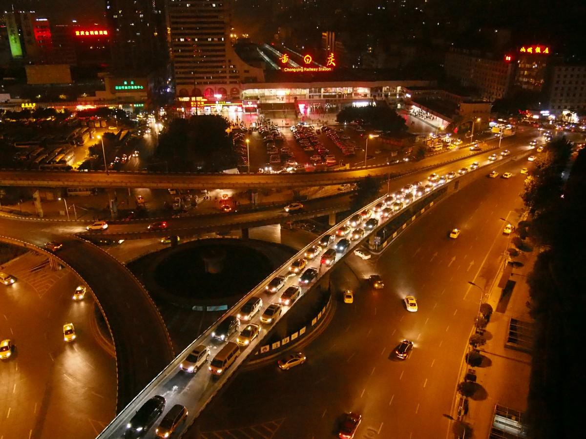 重庆火车站夜景