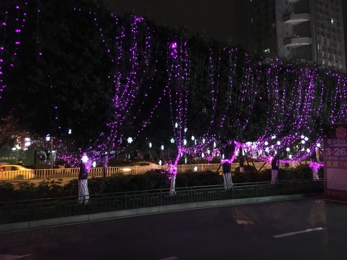 重庆马路夜景