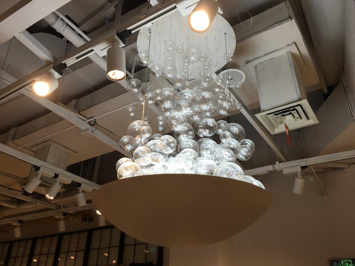 水母形状的吊灯