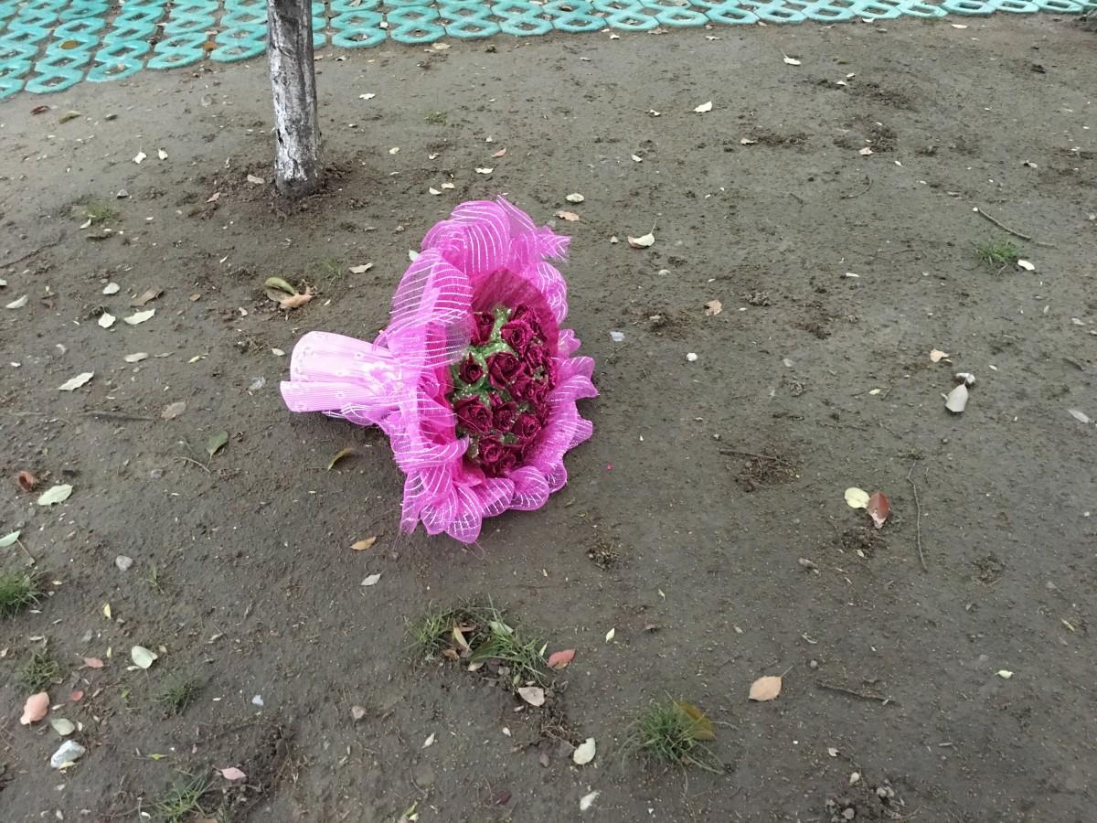 丢弃的玫瑰花