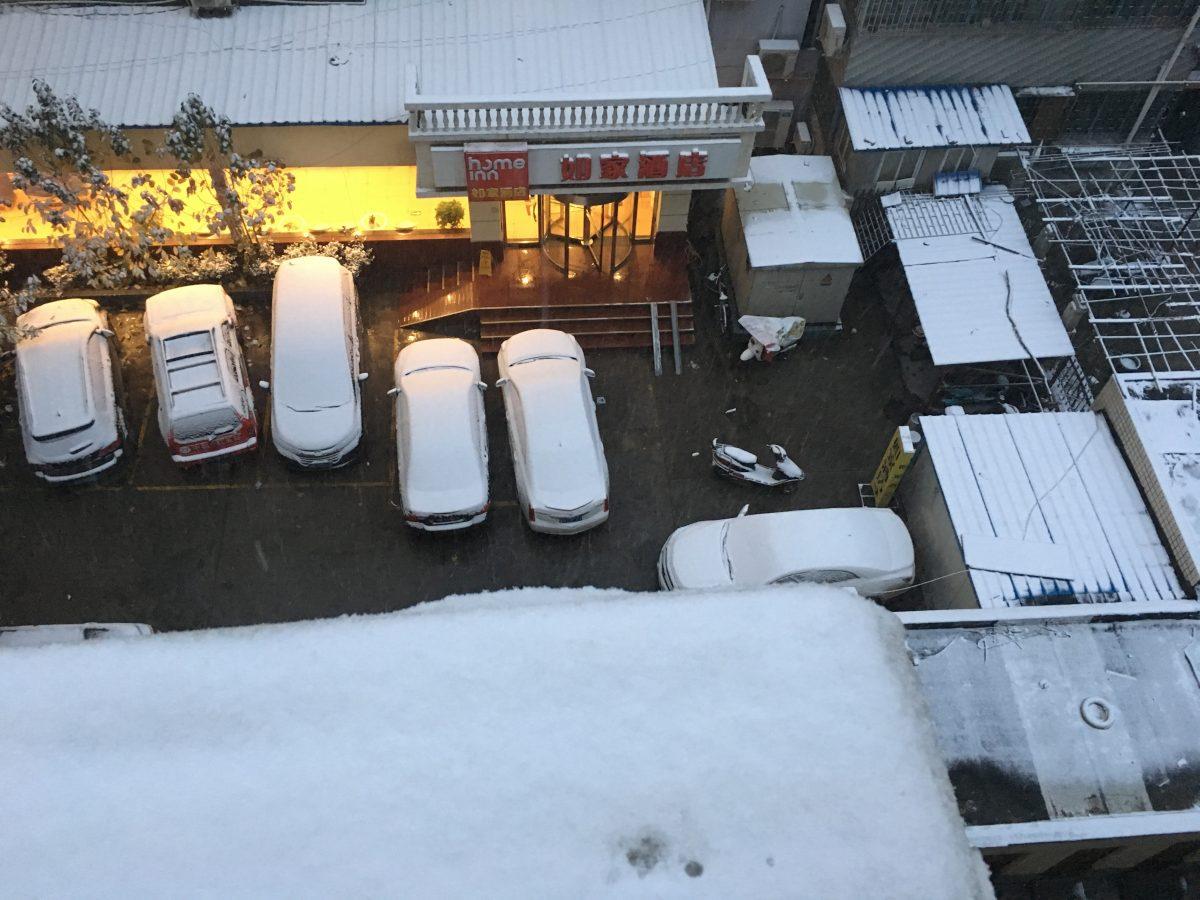 郑州下雪了