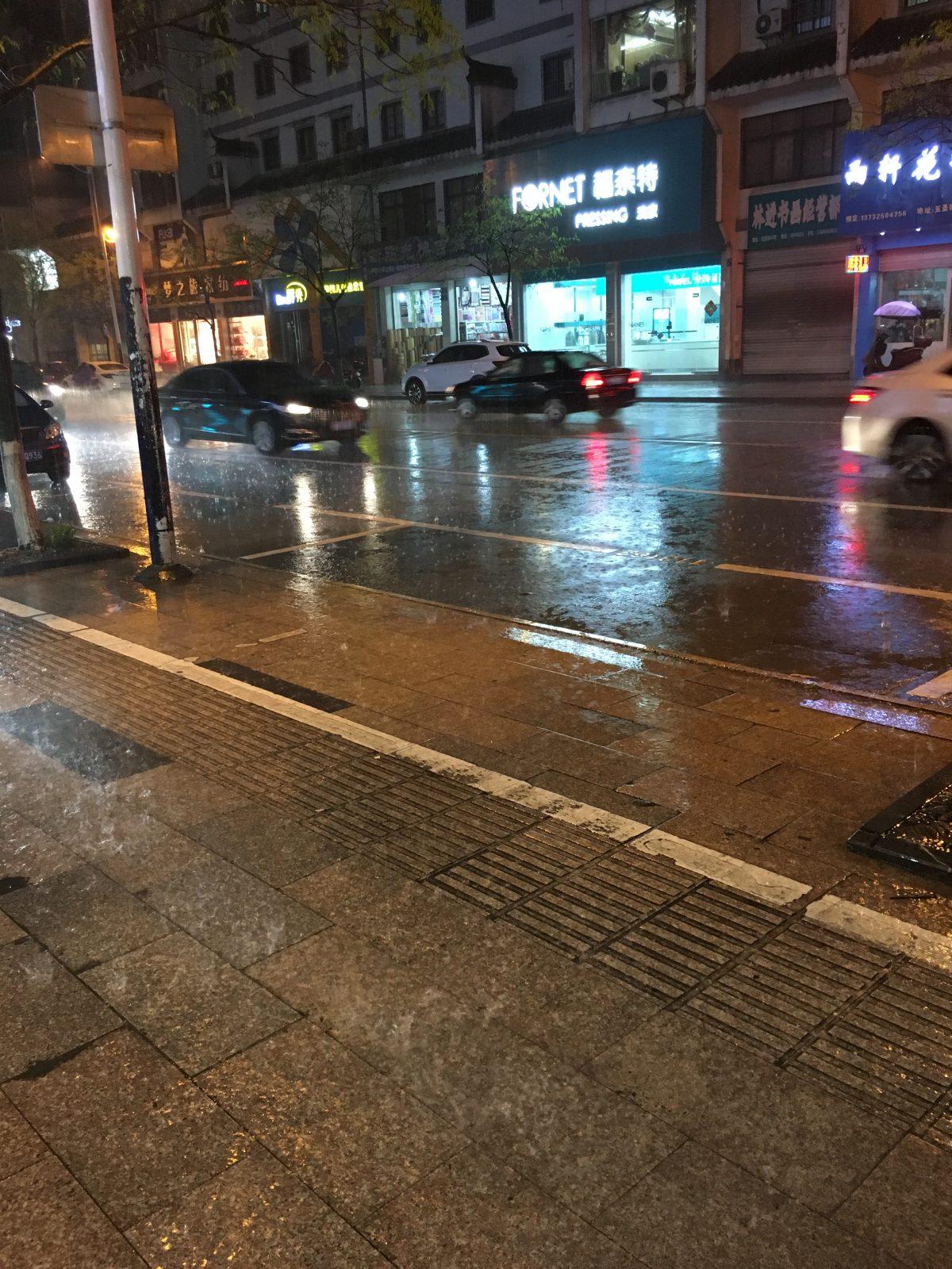 浙江衢州夜雨
