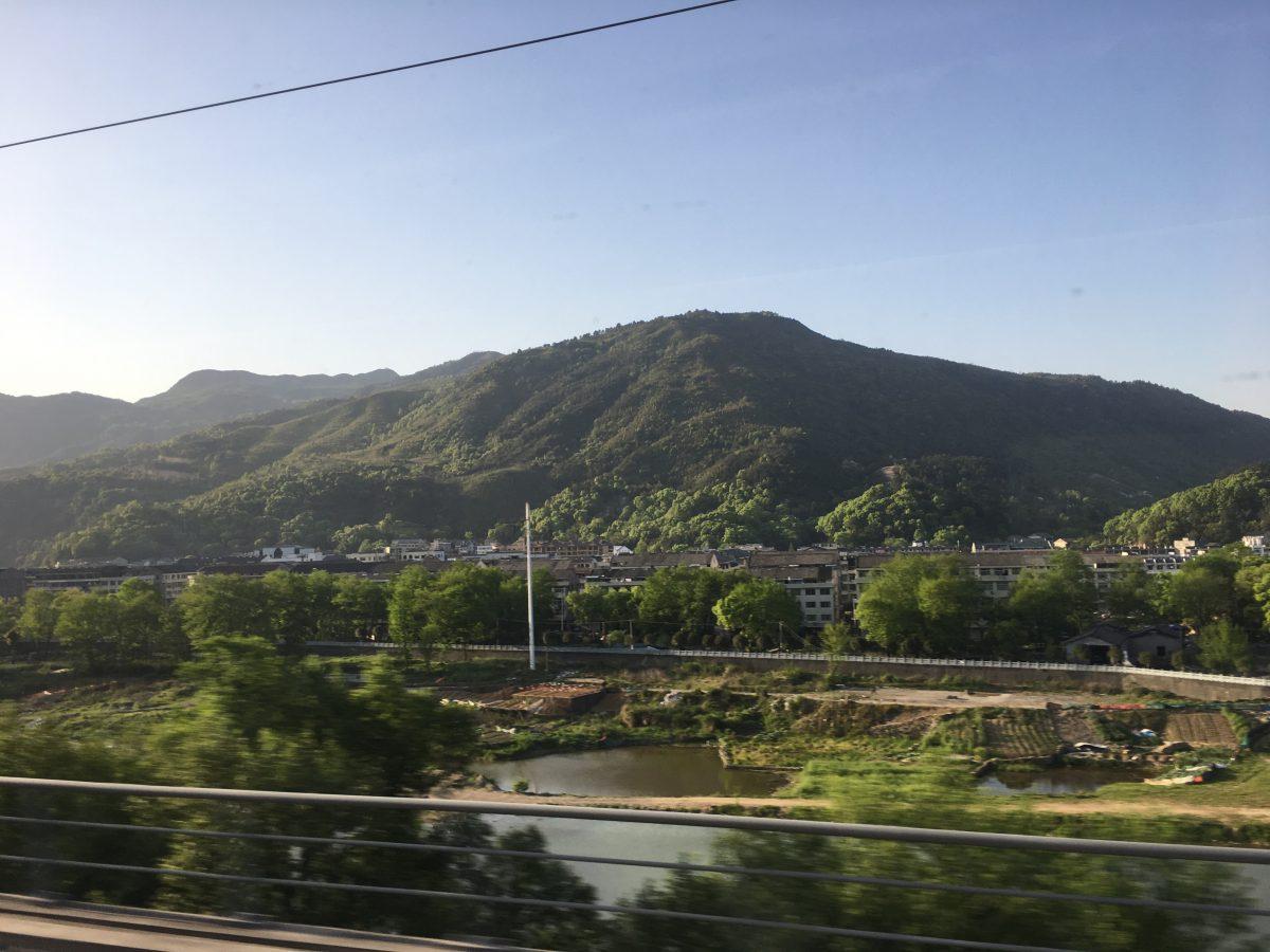 火车 温州南-青田 窗外群山