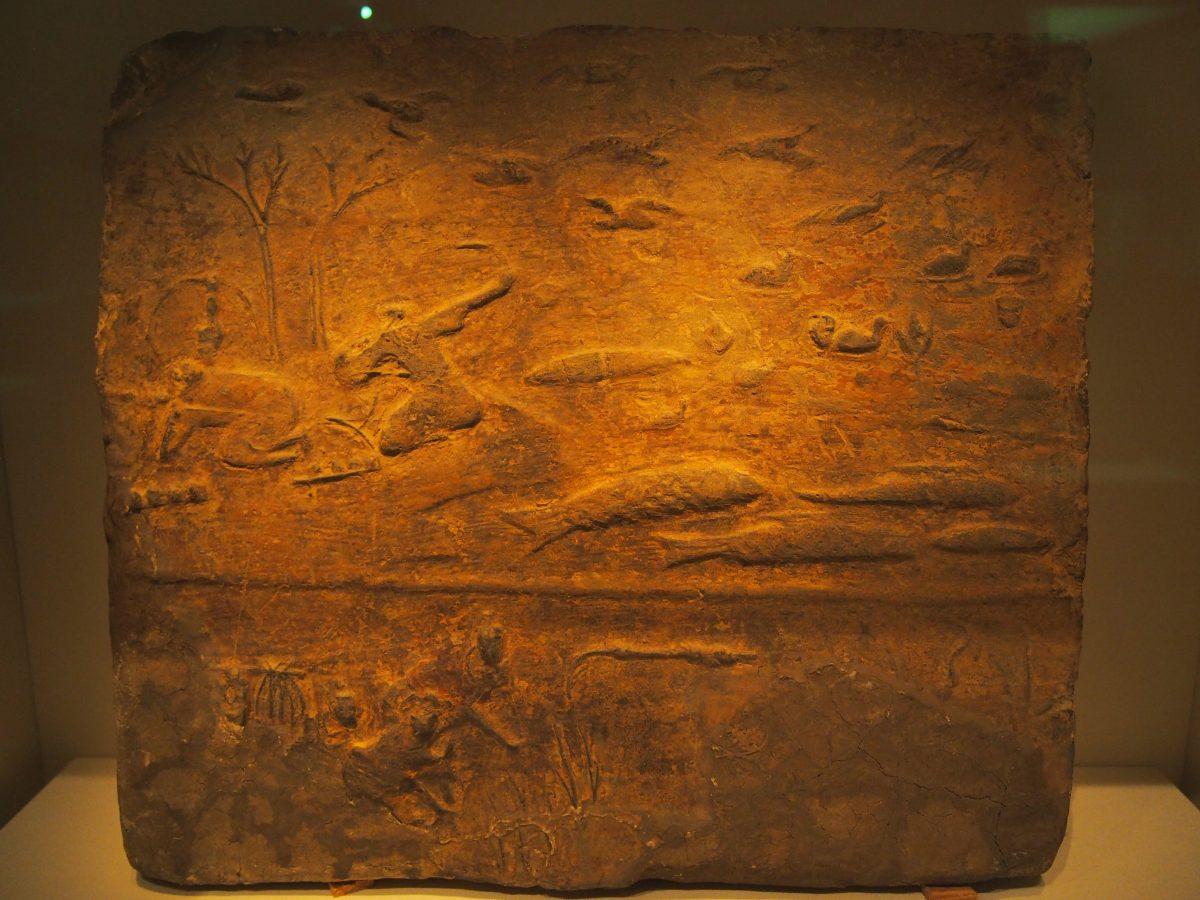 东汉收获渔猎画像砖