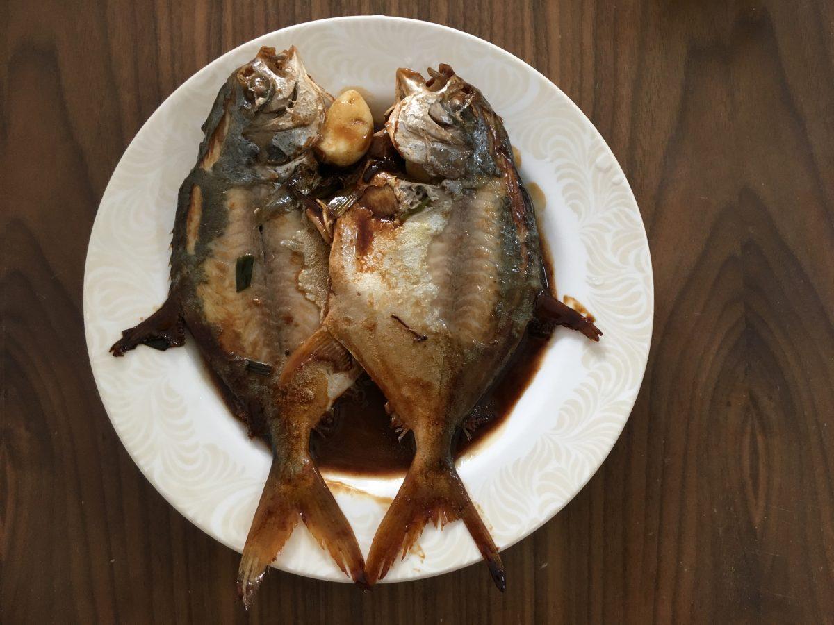 菜·海鲜·红烧银鲳鱼